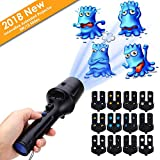 LED Projector Flashlight, LUXONIC Portable Handheld Flashlight and Projector Light 2 in 1 Decoration Projector Lamp Battery Operated with 12 Animated Pattern Slides and Tripod Holiday Projection Lamp for Kids, Party, Christmas, Halloween