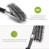 """BBQ Grill Brush by DuraGrill™ - 18"""" - #1 Selling Grill Cleaner - 3 Stainless Steel Brushes in 1 - Perfect for Char-Broil, Weber, Porcelain and Infrared Grills"""