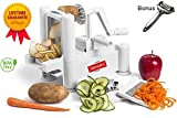 Semzaro Spiral Vegetable Slicer 2018 as Seen on Food Network TV Heavy Duty Plastic Spiralizer With 5 Different Blades Made of Stainless Steel with EXTRA Peeler For Vegetable And Fruits BPA FREE