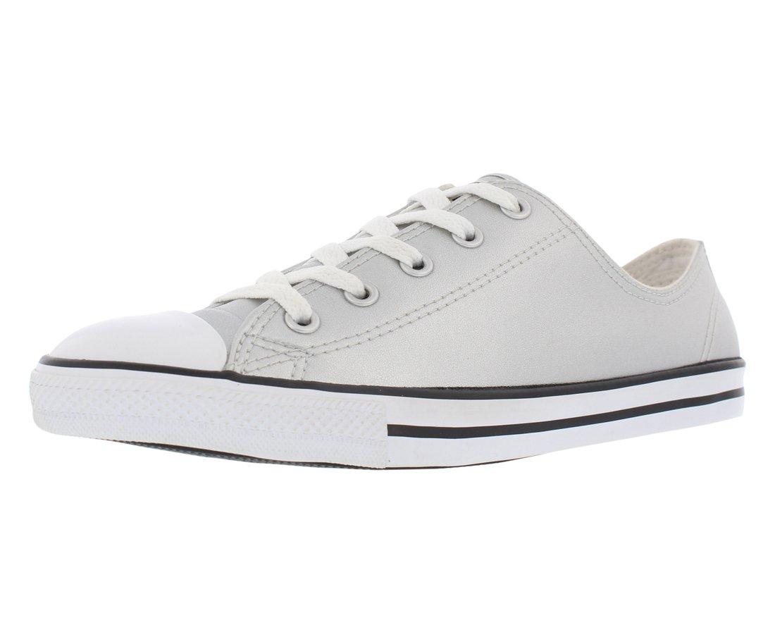 0a24856e1d68 Galleon - Converse Chuck Taylor All Star Danty Metallic Leather Ox Silver Black White  (Womens) (5.5 B(M) US)