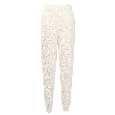Otoño Invierno Mujer Pantalones de Felpa cálidos Pantalones de ...