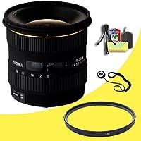 Sigma 10-20mm f/4-5.6 EX DC HSM Lens for Canon Digital SLR Cameras + 77mm UV Filter + Lens Cap Keeper + Deluxe Starter Kit DavisMAX Bundle
