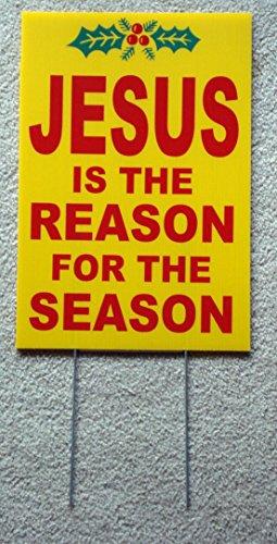 1 Pc Primo Popular Jesus The Reason for The Season Yard S...