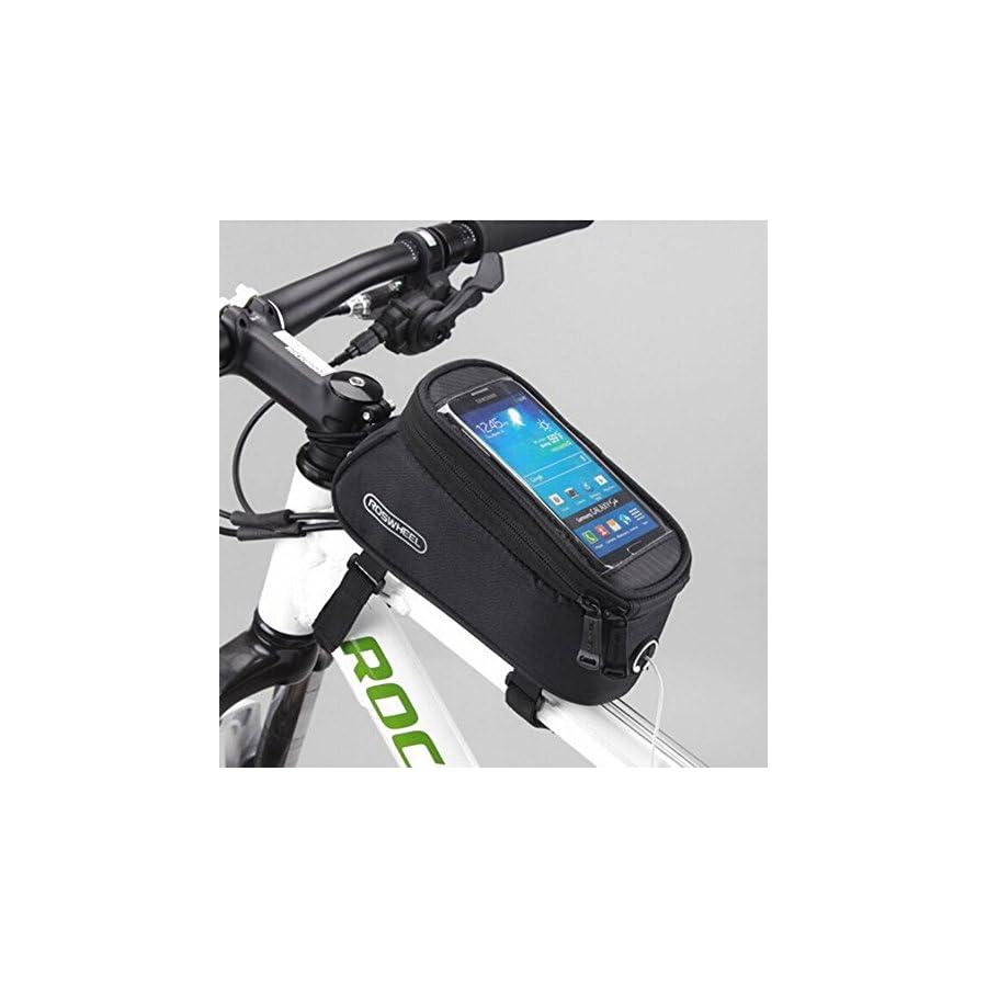Road Mountain Bike Bag Pannier Classic Roswheel Mini Cycling Bicycle Front tube Bags For Men Women For iphone 4 5 6 7 Plus 8 8plus X Samsung Huawei,S M L