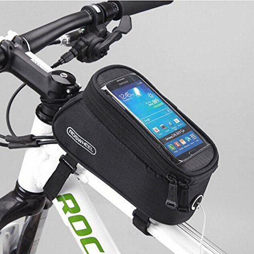 Road Mountain Bike Bag Pannier Classic Roswheel Mini Cycling Bicycle Front tube Bags For Men Women For iphone 4 5 6 7 Plus 8 8plus X Samsung Huawei,S M L