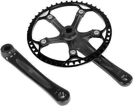 Juego de bielas de Bicicleta de 170 mm Juego de Anillos de Cadena 45T 47T 2 Colores para Ciclismo de Bicicleta: Amazon.es: Deportes y aire libre