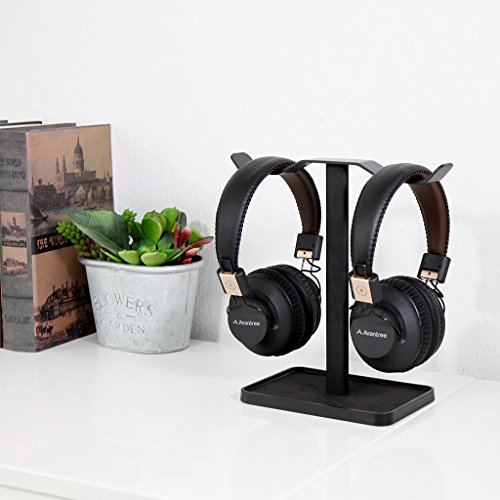 Neetto Dual Headphones Stand for Desk, Gaming Headsets Holder Hanger for Sennheiser, Sony, Audio-Technica, Bose, Beats, Akg, Display Mount - HS908