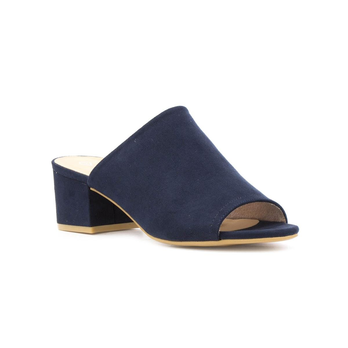 47df487f59e7 Lilley Womens Navy Faux Suede Sleeve Mule - Size 5 UK - Blue  Amazon.co.uk   Shoes   Bags