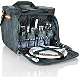 Insulated Picnic Basket- Waterproof & DurableLunch Tote Cooler Backpack w/ Flatware and many extras Two Place Setting By Scuddles