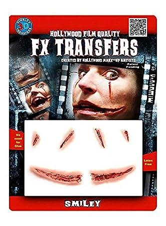 FX Transfers Smiley Make-up Set für Halloween, Karneval und ...