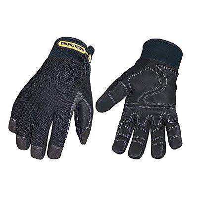 Youngstown Glove 03-3450-80-M Waterproof Winter Plus Performance Glove Medium, Black