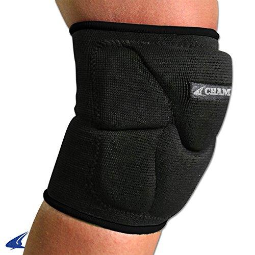 Champro Sports Pro-Plus Low Profile Knee Pad, Black (Champro Volleyball Knee Pads)