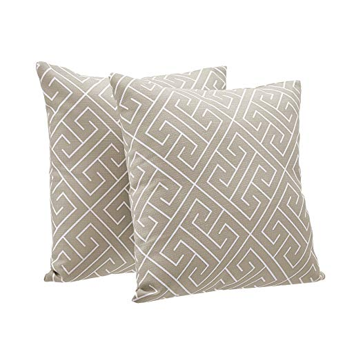 AmazonBasics 2-Pack Textured Weave Decorative Throw Pillows - 18