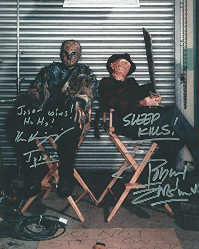 Freddy vs. Jason Robert Englund and Ken Kirzinger as Freddy Krueger and Jason Voorhees Signed Autographed 11x14 Photo Reprint