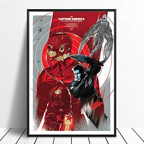 Capitán América 2 Avengers Superhero Poster Arte De La Pared ...