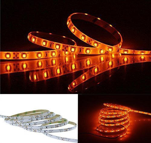 Orange led strip light waterproof 3528smd 5m16ft flexible light orange led strip light waterproof 3528smd 5m16ft flexible light stripdc12v 60led aloadofball Image collections