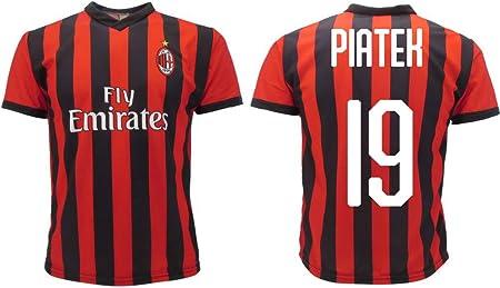 Camiseta Jersey Futbol Milan Piatek 19 Replica Oficial Autorizado 2018-2019 Niños (2,4,6,8,10,12 año) Adultos (Small, Medium, Large, Xlarge) (Xlarge): Amazon.es: Deportes y aire libre