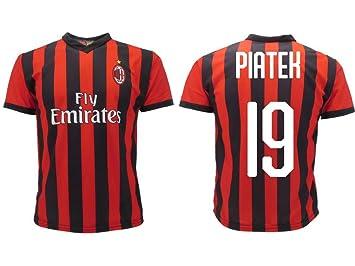 Camiseta Jersey Futbol Milan Piatek 19 Replica Oficial ...