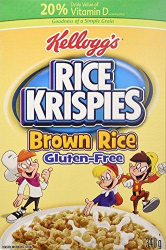 - Kellogg's Rice Krispies Gluten Free Cereal, Whole Grain Brown Rice