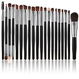 BS-MALL Makeup Eye Brush Set 20 Pcs Eyeshadow Brushes Makeup Brushes (Rose Brown)