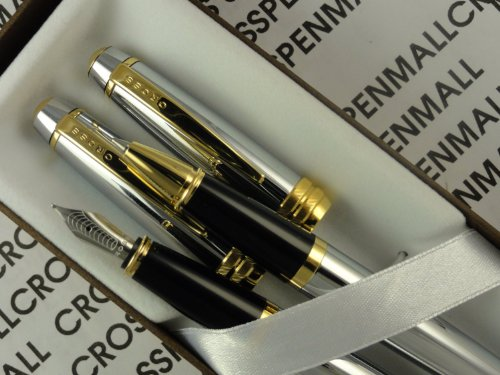 Cross Elite Executive Style Bailey 23k Gold Medalist Rolling ball and Medium nib Fountain pens. - Medalist Rolling Ball