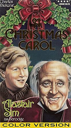 Alister Sims Christmas Carol.Amazon Com A Christmas Carol Color Version Alastair Sim As