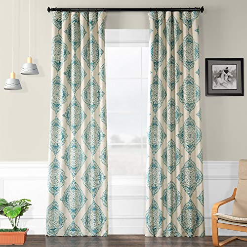 HPD HALF PRICE DRAPES BOCH-KC27A-120 Henna Blackout Room Darkening Curtain, 50 X 120, Teal (Price Half Rugs)