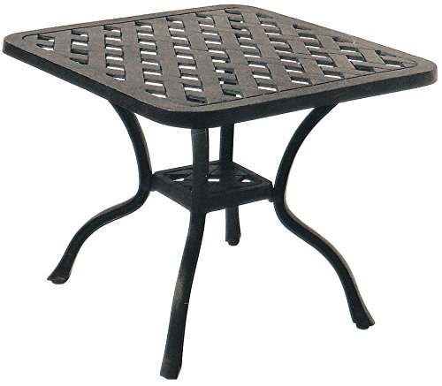 "Darlee A/DL30-A Series 30 Side Table with Weave Designed, 21"" Square For Sale"