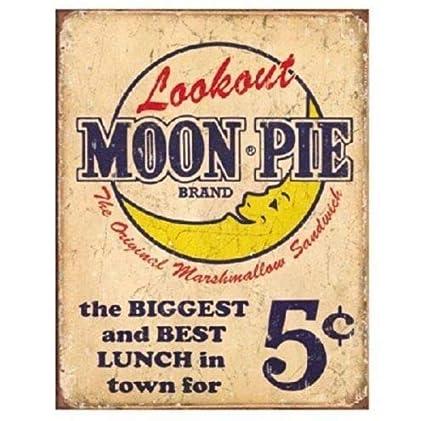 Amazon com: ShopForAllYou Vintage Decor Signs Moon Pie Metal tin