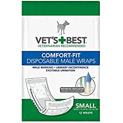 Vet's Best Disposable Male Dog Diapers With Wetness Indicator, 12 Count