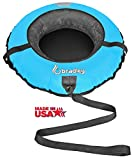 Bradley Kid's Snow Tube with 42'' Heavy Duty Cover and Leash (Bright Blue)
