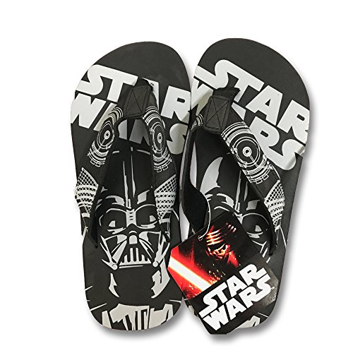 Disney Store Boys Star Wars The Force Awakens Flip Flops (13-1 M US Little Kid, Black, Grey) (Star Wars Boys)
