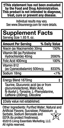 Extra Strength 5-hour ENERGY Shots – Strawberry Watermelon Flavor – 24 Count by 5-Hour ENERGY (Image #3)