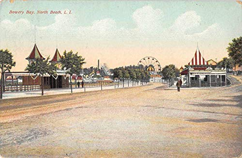 North Beach Long Island New York Bowery Bay Amusement Park Postcard JF685200