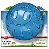 Kaytee Dwarf Hamster Mini Run-About 5-Inch Exercise Ball, Rainbow, Colors Vary