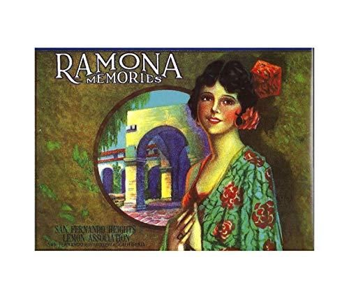WholesaleSarong Ramona Memories Lemon Crate Label Art Poster Boho Wall Poster Big Wall Posters for Bedroom ()