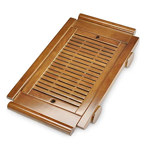 - Tea Serving Tray Wood Chinese Gongfu Tea Set Wooden Tea Table Tea Tray For Home Office Restaurant Reception Room (Color : Brown, Size : 58x33x6.5cm)