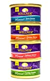 wellness wet cat food - Wellness Minced Grain-Free Wet Cat Food Variety Pack - 4 Flavors (Salmon, Tuna, Turkey, and Chicken) - 12 (3 Ounce) Cans - 3 of Each Flavor