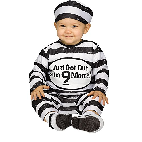 Toddler Time Out Tot Prisoner Costume Size Large 12-24 Months]()