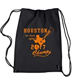 Cheap Backpack Houston Baseball World Champs 2017 Black Drawstring Backpack
