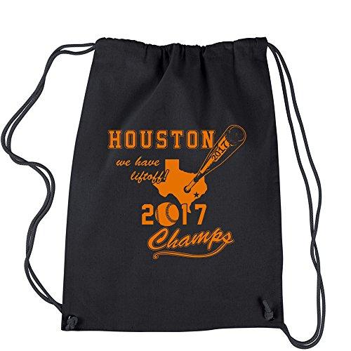 Cheap Backpack Houston Baseball World Champs 2017 Black Drawstring Backpack
