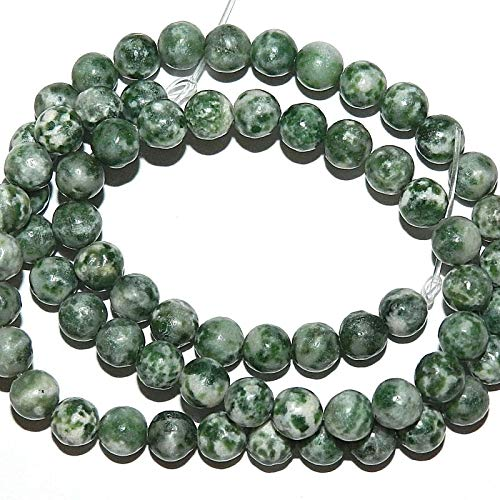 Green Tree Agate Beads - Green Tree Agate 6mm Round Natural Gemstone Beads 16#ID-7119