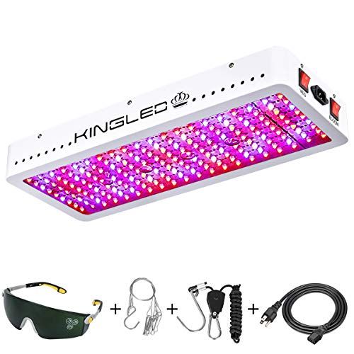 King Plus 2000W Double Chips LED Grow Light Full Spectrum for Greenhouse and Indoor Plant Flowering Growing (10w LEDs)