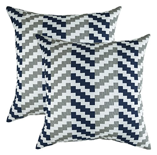 TreeWool,  Stepped Chevron Accent Throw Pillow Covers in Cot