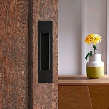CCJH Invisible Door Handle for Sliding Barn Wooden Door Furniture Hardware Rectangle Shaped (Black) & Amazon.com: CCJH Invisible Door Handle for Sliding Barn Wooden Door ...