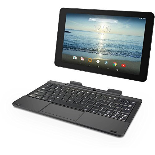 RCA Viking Pro 10'' 2-in-1 Tablet 32GB Quad Core Laptop Computer with Touchscreen and Detachable Keyboard Google Android 5.0 Lollipop by RCA