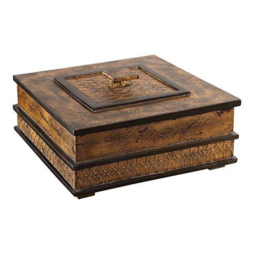 Uttermost Antiqued Gold Leaf Box