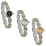 JewelryWe Women Bracelet Watches Water Resistant Quartz Watch Stainless Steel Analog Dial Wristwatch