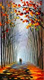 Autumn Fog is a Limited Edition print from an edition of 400. The artwork is a hand-embellished, signed and numbered Giclee on Unstretched Canvas by Leonid Afremov. This wonderful artwork is one of Afremov's most emotional Autumn images. The deep red...