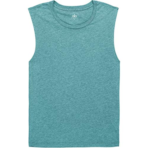 - Alo Yoga Men's The Triumph Muscle Tank, Denim Triblend, XL